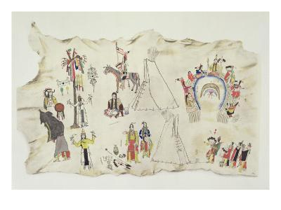 The Shoshone Sun Dance and the Peyote Cult-Silver Horn-Giclee Print