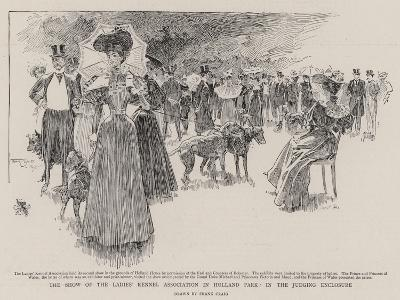 The Show of the Ladies' Kennel Association in Holland Park, in the Judging Enclosure-Frank Craig-Giclee Print