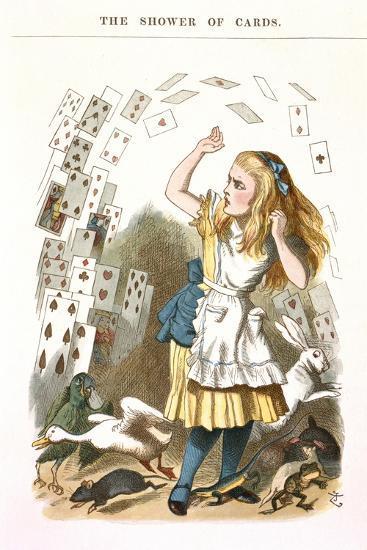 The Shower Of Cards-John Teniel-Giclee Print