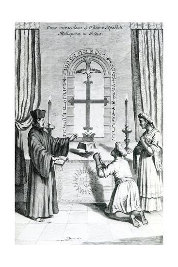 The Shrine of Saint Thomas at Meliapore, 1667-Athanasius Kircher-Giclee Print