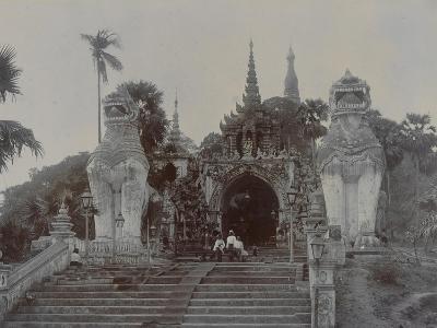 The Shwedagon Pagoda at Rangoon, Burma, C.1860-English Photographer-Giclee Print
