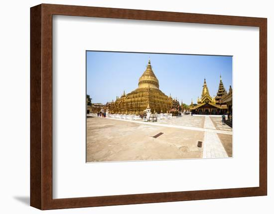 The Shwezigon Pagoda (Shwezigon Paya), a Buddhist Temple Located in Nyaung-U, a Town Near Bagan-Thomas L-Framed Photographic Print