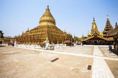 The Shwezigon Pagoda (Shwezigon Paya), a Buddhist Temple Located in Nyaung-U, a Town Near Bagan-Thomas L-Photographic Print