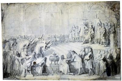 The Siamese Ambassadors before the King, 1686-Charles Le Brun-Giclee Print