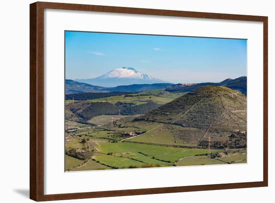 The Sicilian Landscape with the Awe Inspiring Mount Etna-Martin Child-Framed Photographic Print