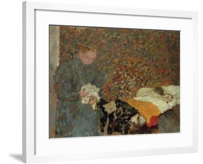 The Sick Child, C.1892-Edouard Vuillard-Framed Giclee Print