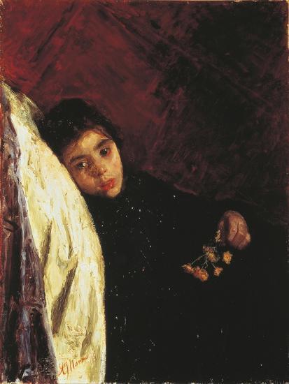 The Sick Girl, 1875-Antonio Mancini-Giclee Print