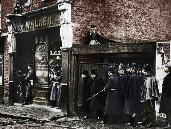 The Sidney Street siege, Whitechapel, London, 1911, (1935)-Unknown-Photographic Print