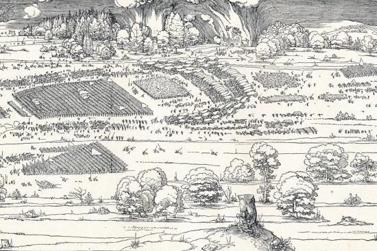 The Siege of a Fortress Ii, 1527-Albrecht D?rer-Premium Giclee Print
