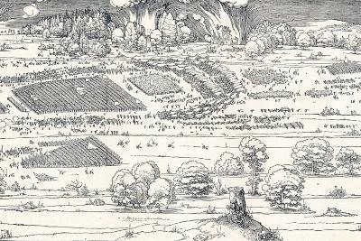 The Siege of a Fortress Ii, 1527-Albrecht D?rer-Giclee Print