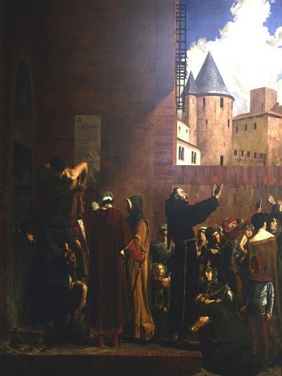 The Siege of Carcassonne, 1209 (C1858-192)-Jean-Paul Laurens-Giclee Print