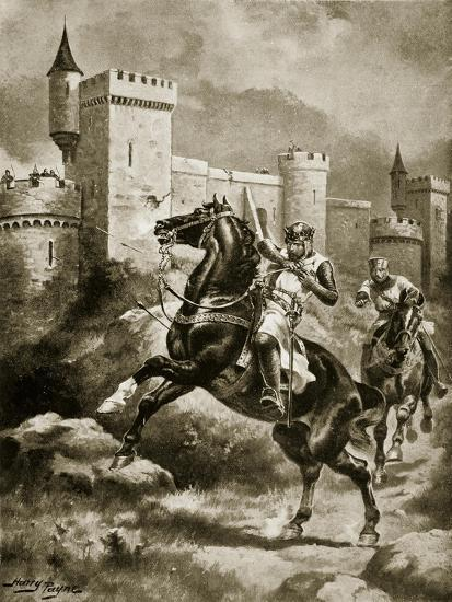 The Siege of Chaluz, Illustration from 'Hutchinson's Story of the British Nation', C.1920-Henry Payne-Giclee Print