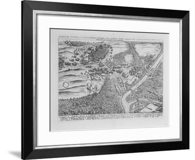The Siege of Frankfurt (Oder) in April 1631, from 'Theatrum Europaeum', Volume II, 1646-Matthaus, The Elder Merian-Framed Giclee Print