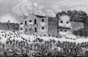The Siege of the Alamo, 6th March 1836, from Texas, an Epitome of Texas History, 1897