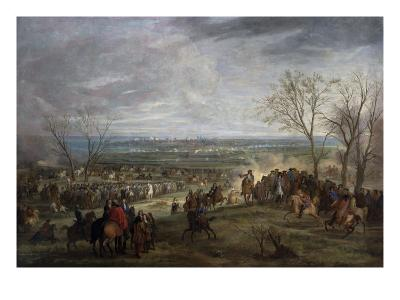 The Siege of Valenciennes, 1677-Adam Frans van der Meulen-Giclee Print