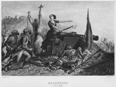 The Siege of Zaragoza in June 1808, Engraved by Augustin Burdet-Denis-auguste-marie Raffet-Giclee Print