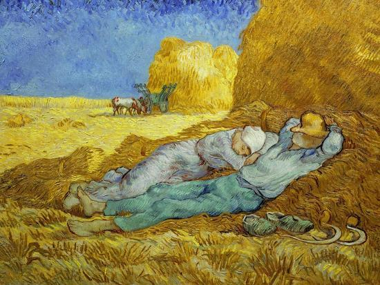 'The Siesta' or 'After Millet', 1889-1890-Vincent van Gogh-Giclee Print