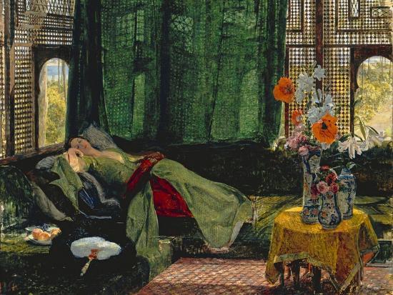 The Siesta-John Frederick Lewis-Giclee Print
