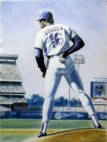 The Sign (New York Mets Dwight Gooden)-Jack Lane-Collectable Print