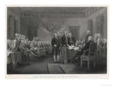 The Signing of the Declaration of Independence in Philadelphia-W. Greatbach-Giclee Print