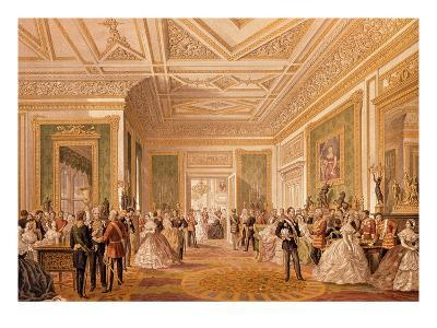 The Signing of the Marriage Attestation Deed, March 10th 1863, Published 1864 (Litho)-Robert Charles Dudley-Giclee Print