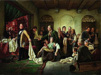 The Silesian Weavers, 1844-Carl Wilhelm Huebner-Giclee Print