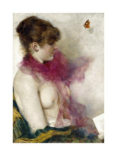 The Silk Scarf-Vittorio Matteo Corcos-Giclee Print