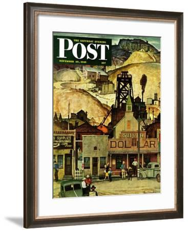 """""""The Silver Dollar,"""" Saturday Evening Post Cover, November 10, 1945-Mead Schaeffer-Framed Giclee Print"""