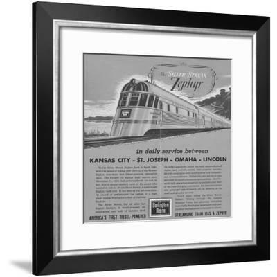 The Silver Streak Zephyr Brochure--Framed Giclee Print