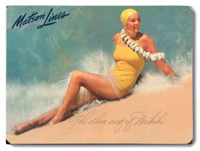 The Silver Surf of Waikiki - Matson Lines