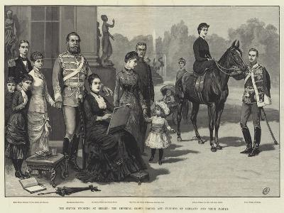 The Silver Wedding at Berlin, the Imperial Crown Prince and Princess of Germany and their Family-Frank Dadd-Giclee Print