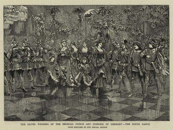 The Silver Wedding of the Imperial Prince and Princess of Germany, the Minne Dance-Charles Edwin Fripp-Giclee Print