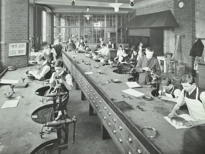 The Silversmiths Room, Central School of Arts and Crafts, Camden, London, 1911--Photographic Print