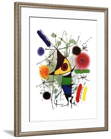 The Singer-Joan Miro-Framed Art Print