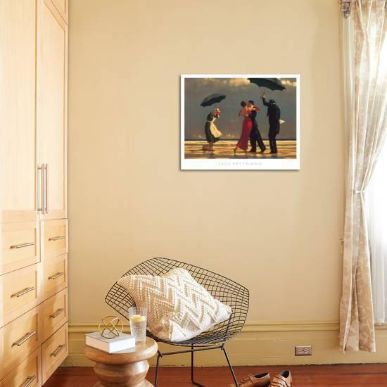 58d3983174e The Singing Butler-Jack Vettriano-Art Print displayed on a wall