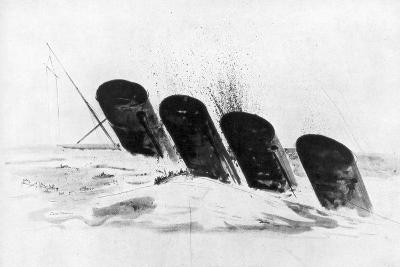 The Sinking of RMS Lusitania, 7 May 1915-Oliver Bernard-Giclee Print