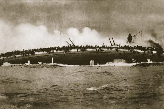The sinking of the German cruiser 'Blücher' in the North Sea, World War I, January 24, 1915-Unknown-Photographic Print