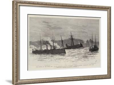 The Sinking of the Rebel Ship Blanco Encalada by the Government Torpedo-Catchers Almirante Lynch an-Joseph Nash-Framed Giclee Print