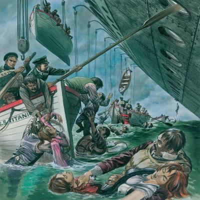 The Sinking of the Titanic-Peter Jackson-Giclee Print