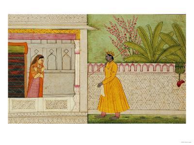 The Sinned Against, Illustration to the Rasikapriya of Keshav Das circa 1750-1760--Giclee Print