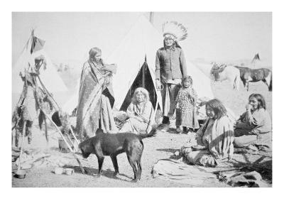 The Sioux Reservation at Pine Ridge, South Dakota, c.1890--Giclee Print