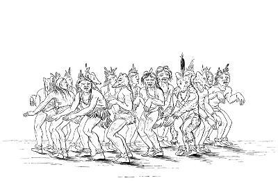 The Sioux Tribe Performing a Bear Dance, 1841-Myers and Co-Giclee Print