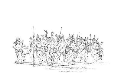 The Sioux Tribe Performing a Beggar Dance, 1841-Myers and Co-Giclee Print