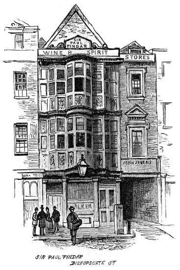 The Sir Paul Pindar Public House, Bishopsgate Street, London, 1887--Giclee Print