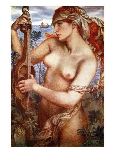 The Siren Mermaid Ligeia--Giclee Print