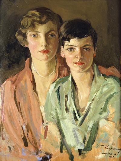 The Sisters, Joan and Marjory, 1927-Sir John Lavery-Giclee Print