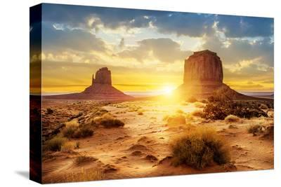 The Sisters Monument Valley--Stretched Canvas Print