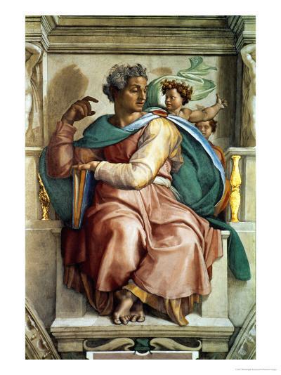 The Sistine Chapel; Ceiling Frescos after Restoration, the Prophet Isaiah-Michelangelo Buonarroti-Giclee Print