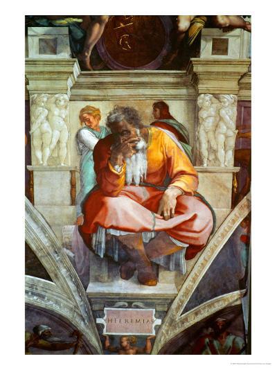 The Sistine Chapel; Ceiling Frescos after Restoration-Michelangelo Buonarroti-Giclee Print