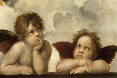 The Sistine Madonna (Detail)-Raphael-Giclee Print